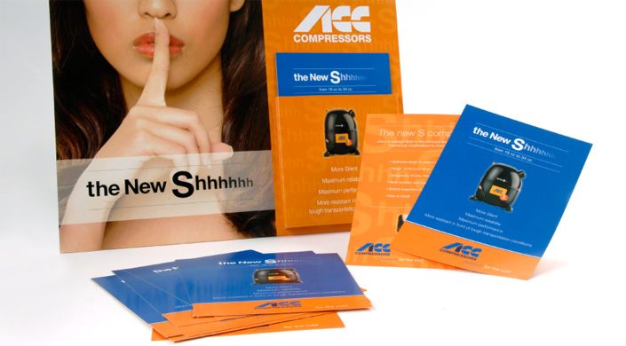 "Campaña para compresor silencioso ""The new Shhh...\"""