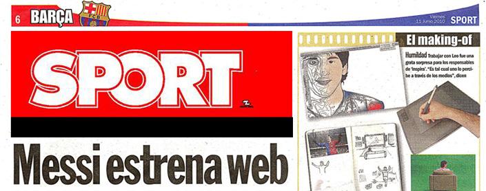 Messi estrena web