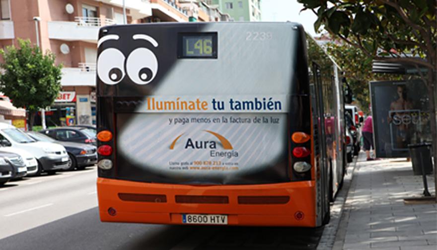 Trasera de bus