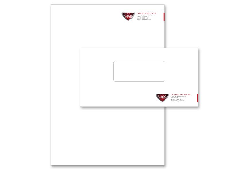Aplicación en papelería comercial