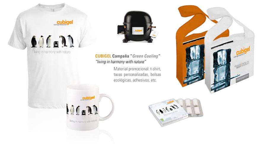 "Material de merchandising campaña \""Green Cooling\"""