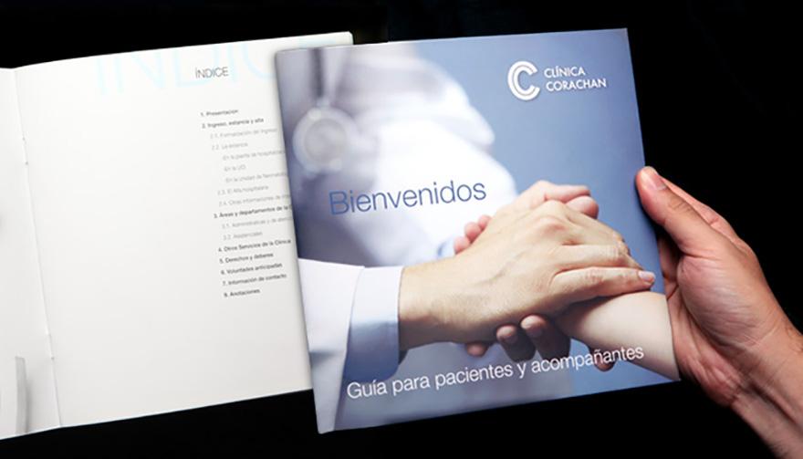 Guía para pacientes y acompañantes de Clínica Corachán, Barcelona
