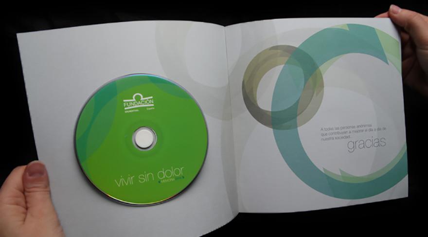 "CD-Rom memoria de responsabilidad social corporativa \"" Vivir sin dolor \"""
