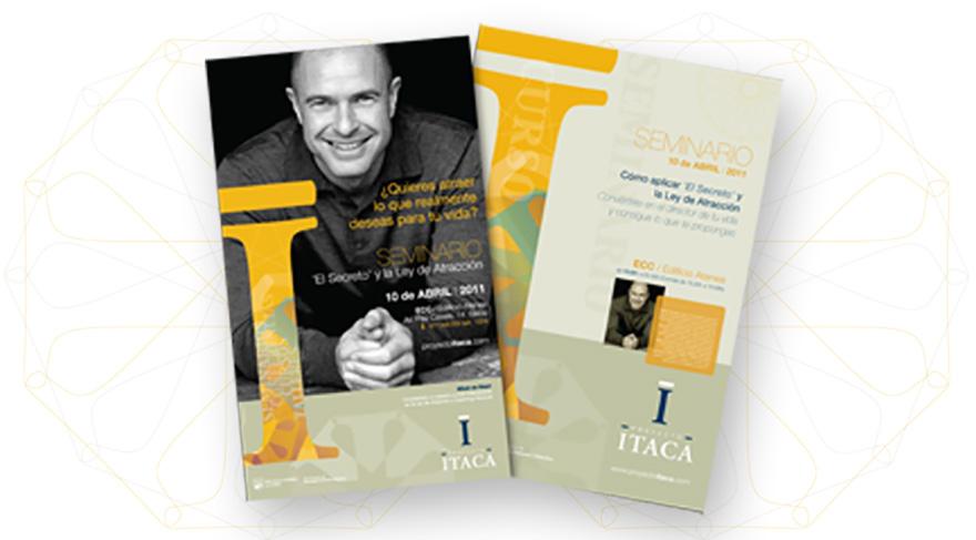 Línea de publicaciones y carteles para promoción de seminarios.