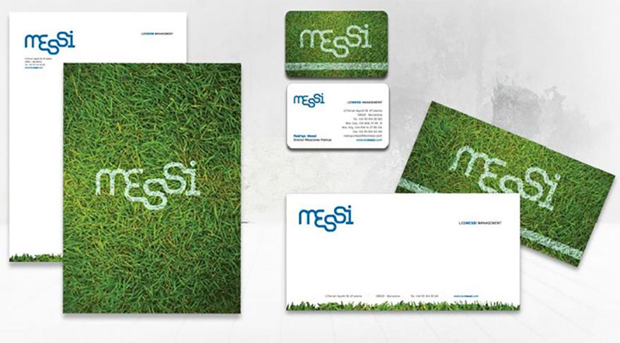 Papelería corporativa Leo Messi