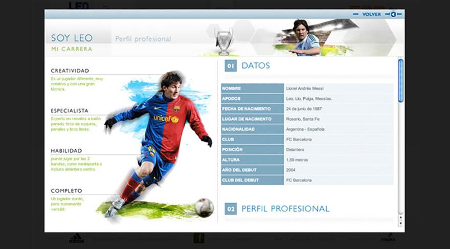 Diseño y desarrollo del website oficial de Leo Messi