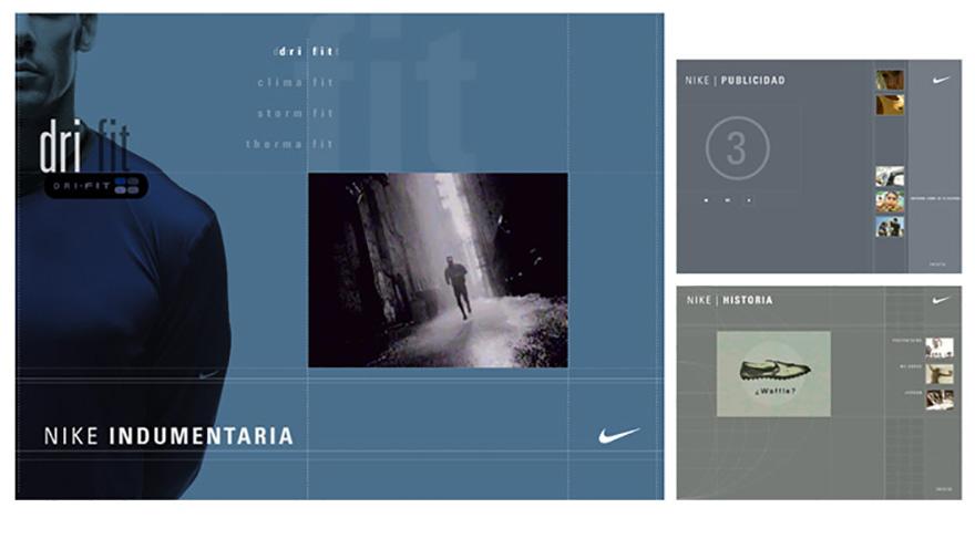Catálogo interactivo para cadena de tiendas Nike