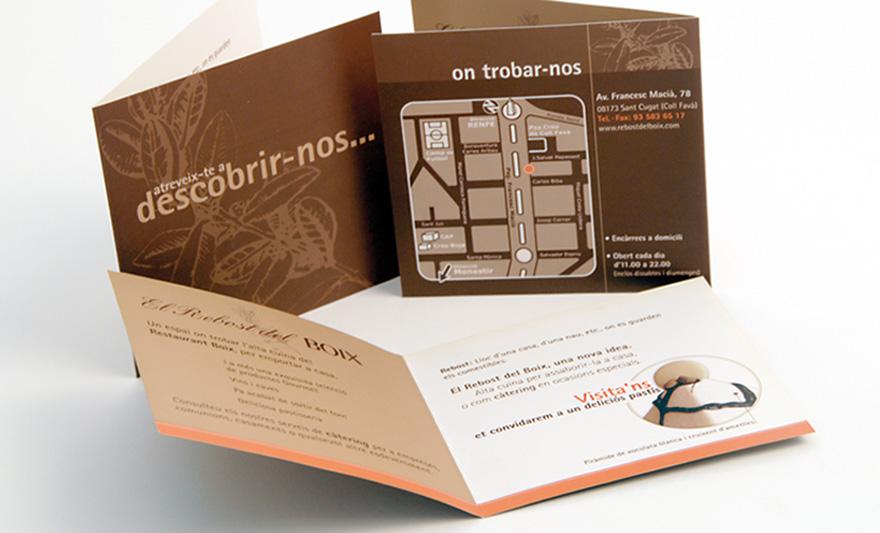 Identidad El Rebost del Boix. Carta y materiales promocionales