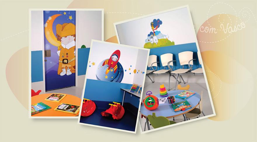 Creación de ilustraciones y decoración de áreas de pediatría en unidades de HPP Saúde