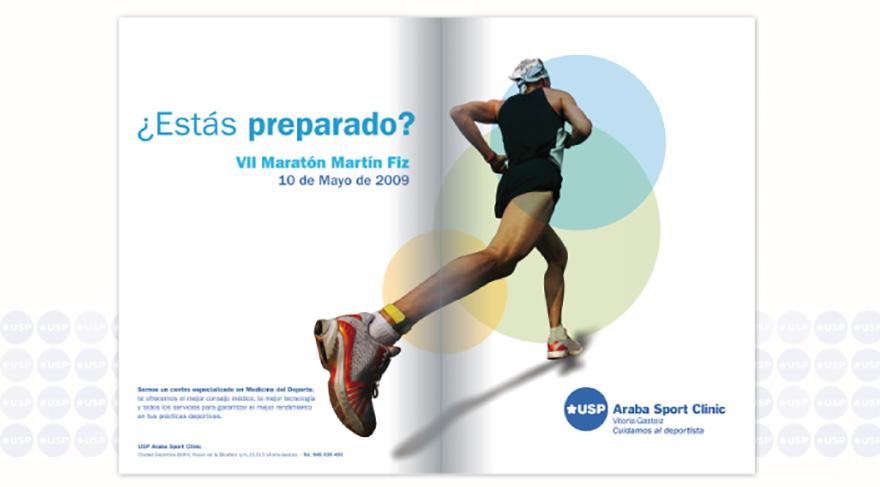 Anuncio de prensa Maratón Martin Fiz. USP La Esperanza, Vitoria Gasteiz