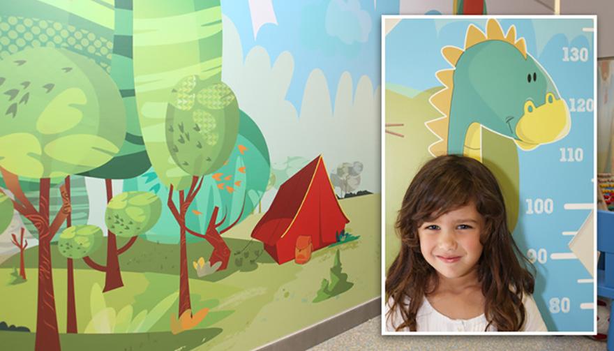 Creación de ilustraciones y decoración área de pediatría. Xanit Hospital Internacional, Málaga.