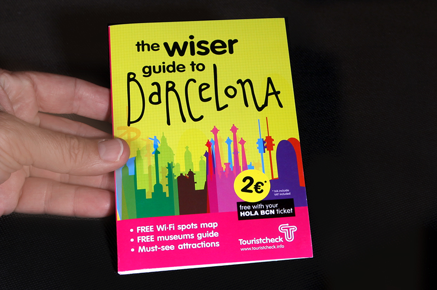 "Portada de mapa ""The Wiser Guide to Barcelona\"""