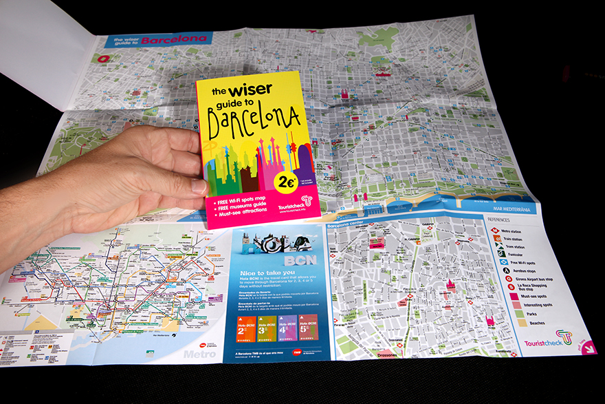 "Detalles de mapa ""The Wiser Guide to Barcelona\"""