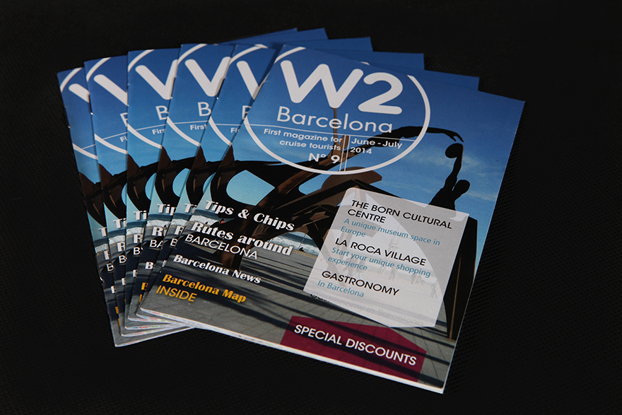 Revistas para distribución en canal cruceros