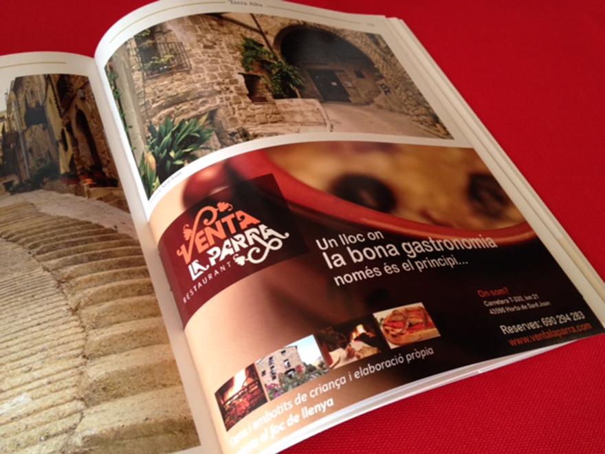 Anuncio para prensa especializada en el sector turístico y gastronómico