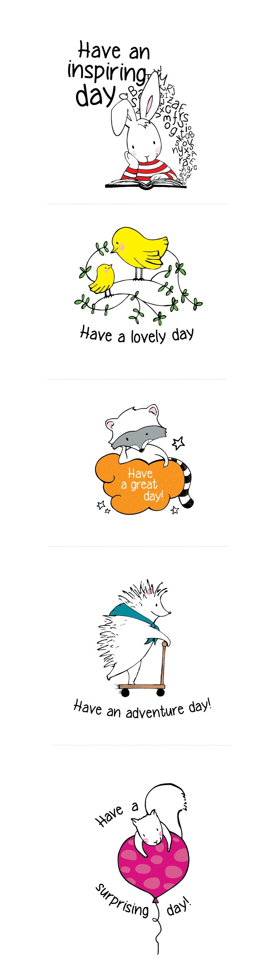 Creatividad e ilustración de personajes y mensajes