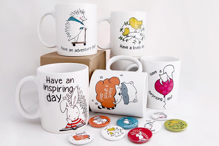 Ilustración aplicada en producto de merchandising