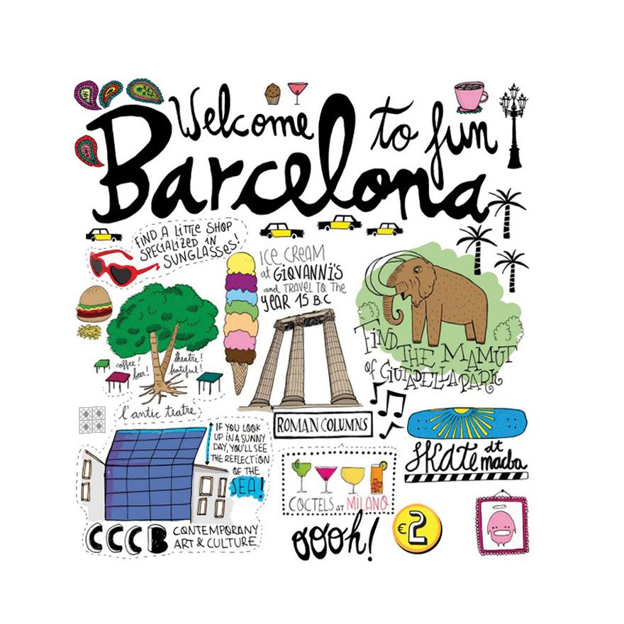 Ilustración y Turismo en Barcelona